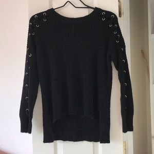 - black knitted sweater